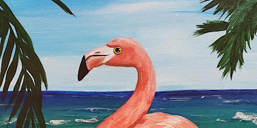 Mimosa Sunday Brunch & Flamingos Paint Party at Brush & Cork