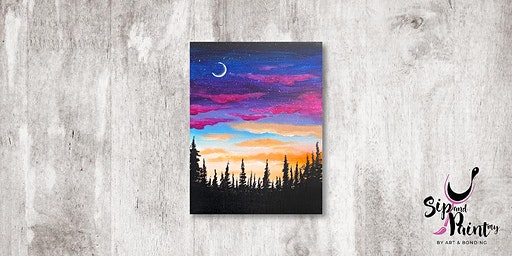 Sip & Paint MY @ Ampang :  Purple Sky