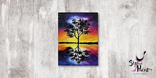 Sip & Paint MY @ Ampang :  Galaxy Tree