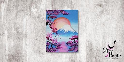 Sip & Paint MY @ Ampang :  Mount Fuji In Spring
