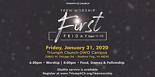 Triumph's First Friday Teen Worship