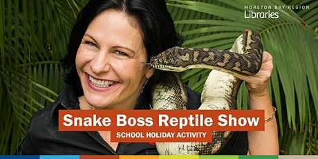 Snake Boss Reptile Show (all ages) - Bribie Island Library tickets