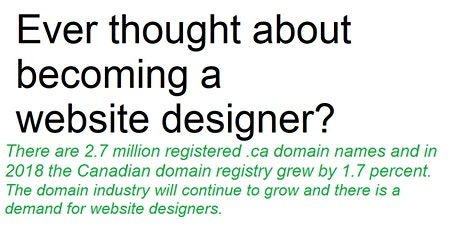 Workshop: Becoming a web designer at a time of online technology growth tickets