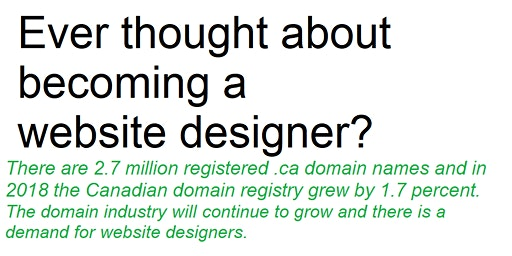 Workshop: Becoming a web designer at a time of online technology growth
