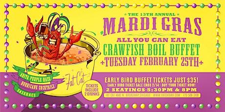 Crawfish Boil Mardi Gras at Fat Cat  tickets