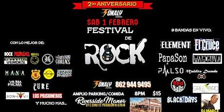 ROCK  EN VIVO SEGUNDO ANIVERSARIO DE TONALY entradas