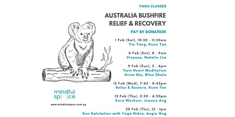 Australia Bushfire Relief & Recovery - Vinyasa tickets