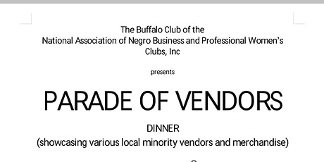 Parade of Vendors Dinner tickets