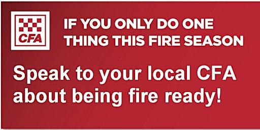 Upwey CFA - Street Corner Fire Information Session