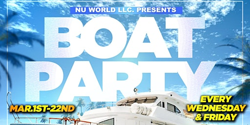 BOAT PARTY - Miami Spring Break (Fri. Mar6)