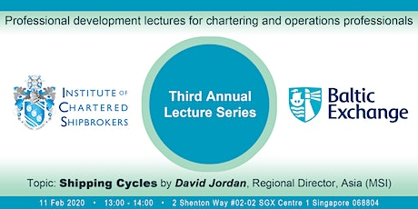 Baltic/ICS Lunchtime Lectures - Singapore,11th Feb 2020 - Shipping Cycles tickets