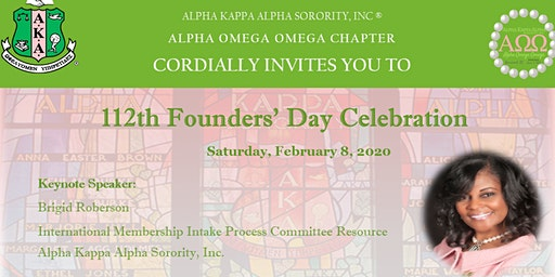 "Alpha Omega Omega Founders' Day Celebration  "" A 2020  Vision Fair"""