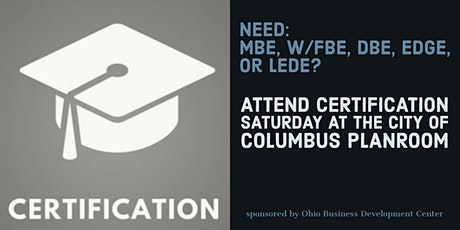 Certification Saturday at the Columbus Enterprise Center tickets