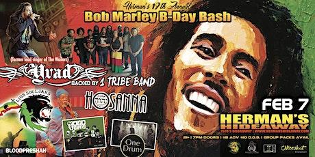 19th Annual Bob Marley B-Day Bash - feat. YVAD (former Wailers lead singer) tickets