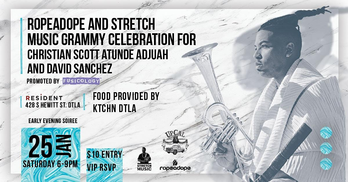 Grammy Celebration for Christian Scott aTunde Adjuah and David Sanchez