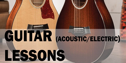 12 or 6 Sessions of Guitar Lesson (Music Lesson) at 1 hour per session