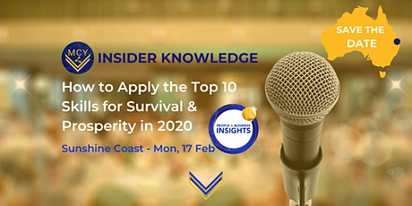 Insider Knowledge Session - Sunshine Coast – How to Apply the Top 10 Skills tickets