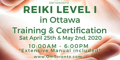 Reiki Level I: Training & Certification in Ottawa, ON tickets