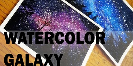 2 Hours Watercolor Galaxy Painting Workshop tickets