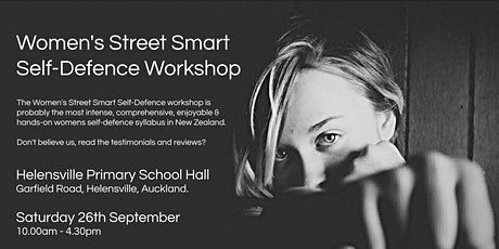 Women's Street Smart Self-Defence Workshop - Helensville, Auckland Sept 2020 tickets