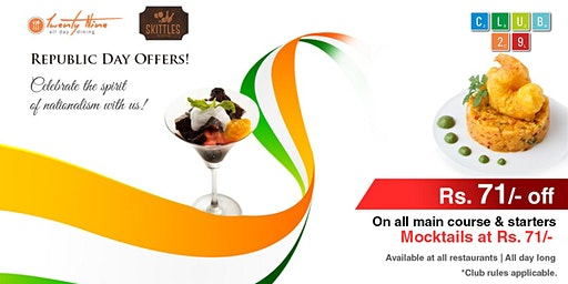 Republic Day Special Food Fest Offer at Club 29