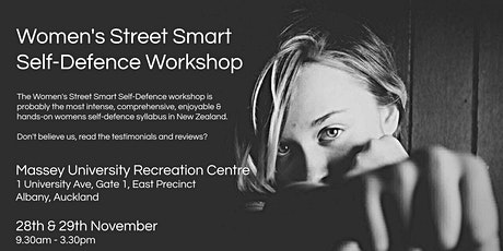 Women's Street Smart Self-Defence Workshop - Massey University, Albany, Auckland Nov 2020 tickets