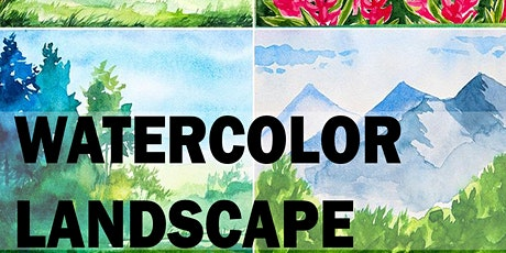 2 Hour Session of Watercolor Landscape Painting tickets