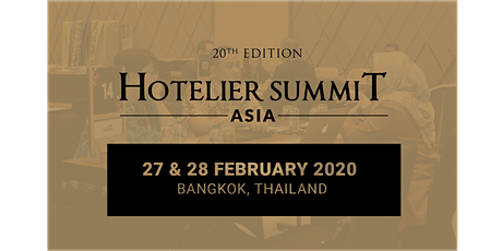 20th Edition Hotelier Summit Asia 2020 tickets