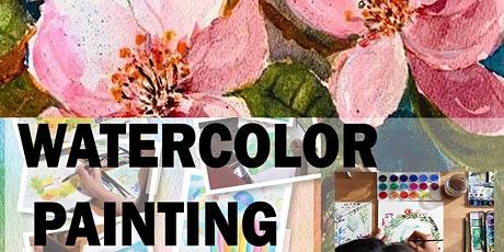 4 or 8 Sessions of Watercolor Painting Lessons for Beginner tickets