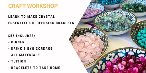 Grab a glass of wine and learn to make diffuser bracelets!