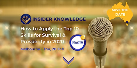 Insider Knowledge Session - Melbourne – How to Apply the Top 10 Skills tickets