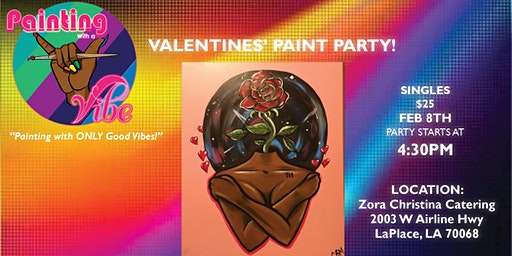 Painting With A Vibe Sip & Paint Party-Valentine's Theme (SINGLES)