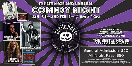 The Strange and Unusual Comedy Night (8PM Show) tickets