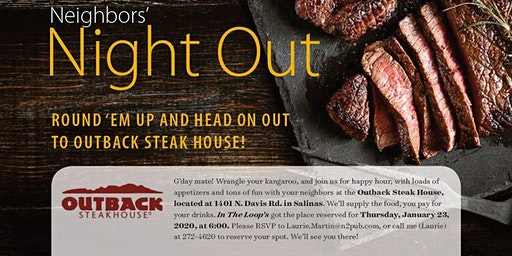 In The Loop Neighborhood Mixer at Outback Steakhouse