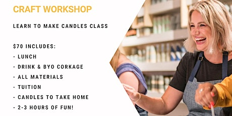 Grab a glass of wine and learn to pour candles! tickets