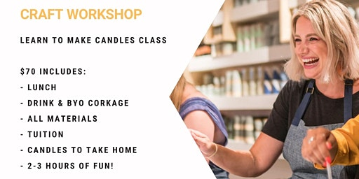 Grab a glass of wine and learn to pour candles!