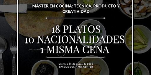 Cena ofrecida por estudiantes del Máster de Cocina Basque Culinary Center