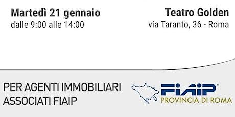 Corso GRATUITO FIAIP ROMA - METODO MIKE FERRY COME DIVENTARE UN GRANDE ACQUISITORE - GESTIONE DEL TEMPO - 21 GENNAIO 2020  biglietti