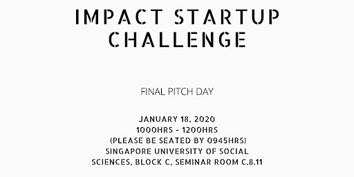 SUSS Impact Startup Challenge MNL Final Pitch (For Invited Guests only)