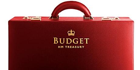 Thompson Jenner LLP Budget breakfast briefing 2020 tickets