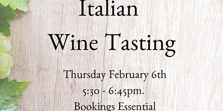 Italian Wine Tasting tickets