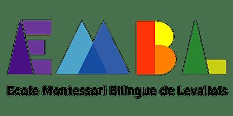 Réunion d'information Ecole Montessori Bilingue de Levallois billets