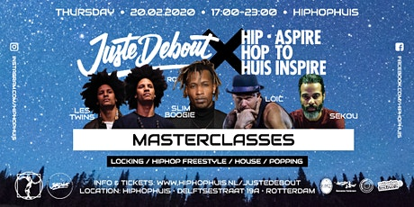 Juste Debout Masterclasses x HipHopHuis Rotterdam tickets