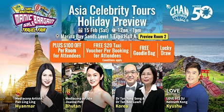 Asia Celebrity Tours Holiday Preview tickets