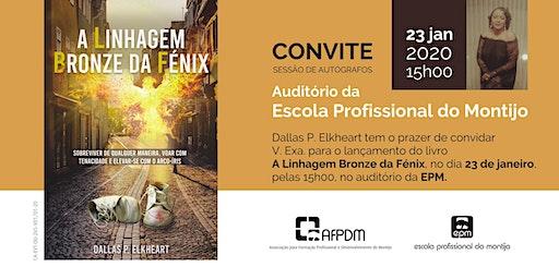 Evento da sessão de autógrafos do livro  Dallas P. Elkheart