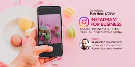 Corso Instagram for Business Latina - Master Class Professioni Digitali biglietti