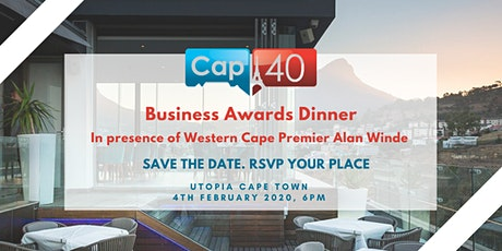 Cap40 Business Awards Dinner tickets