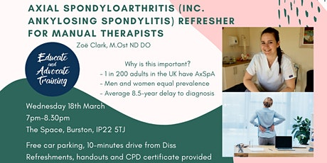 Axial Spondyloarthritis  Refresher for Manual Therapists tickets