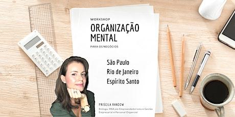 Organização Mental para os negócios ingressos