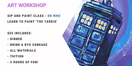 Grab a glass of wine and learn to paint Dr. Who! tickets